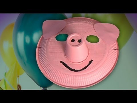 How To Make A Pig Mask Handicrafts For Carnival Costumes Youtube