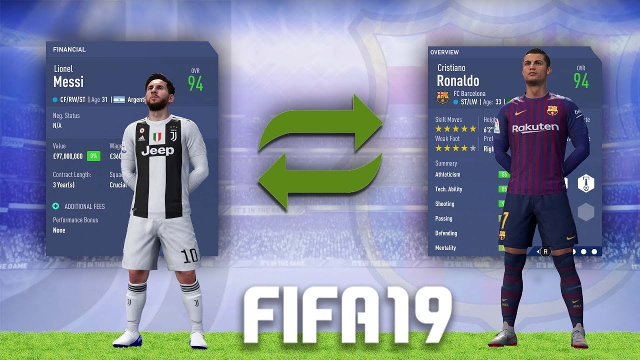 FIFA 19 - What If RONALDO And MESSI Switched Clubs  FIFA 19 CAREER MODE f0c235d1e