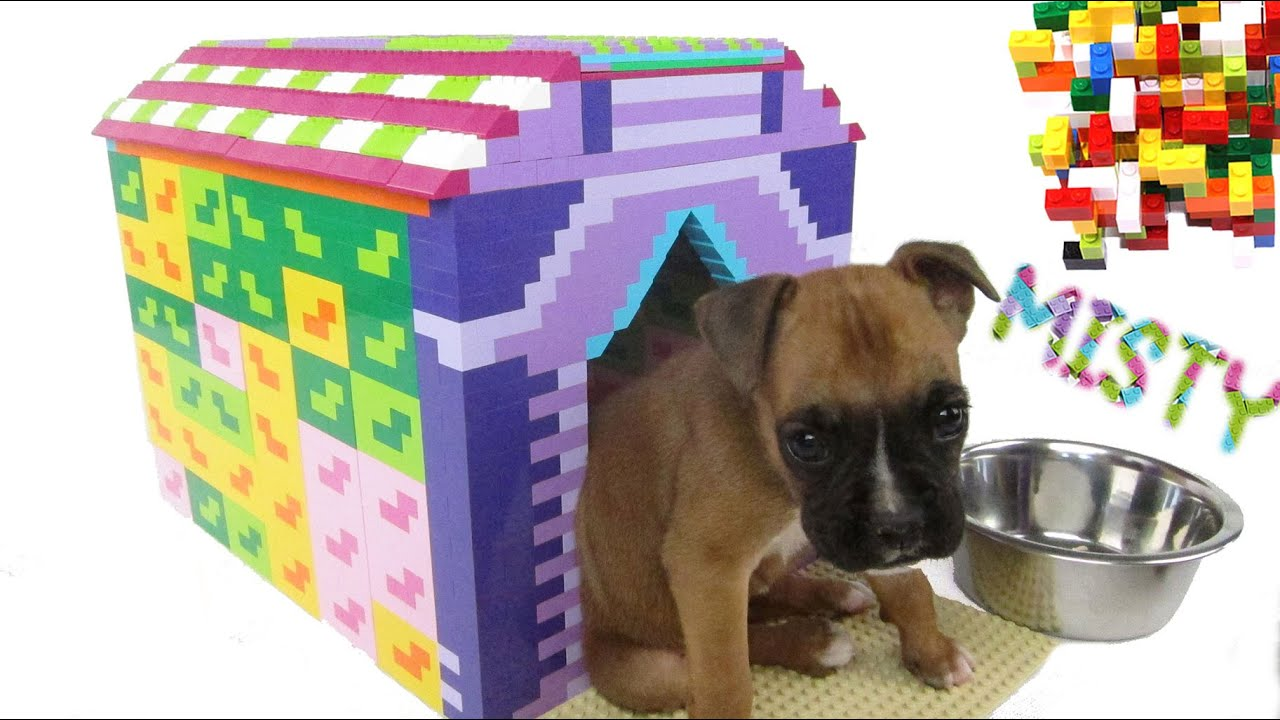 how to build a lego dog house