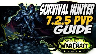 SURVIVAL HUNTER 7.2.5 PVP GUIDE!! WoW Legion Patch 7.2.5