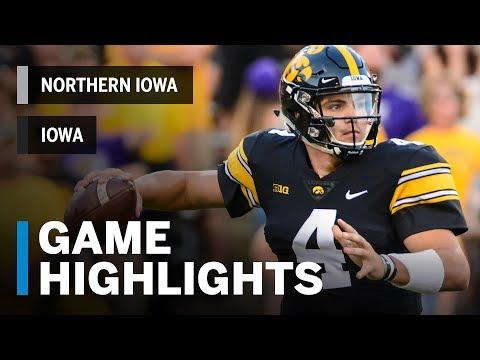 Highlights: Iowa Vs. Northern Iowa | Big Ten Football