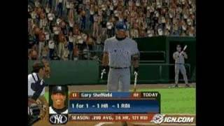 MLB 2006 PlayStation 2 Gameplay - Sheffield kills it