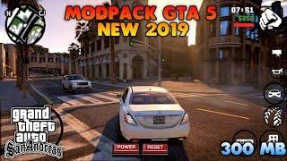 GRAFIKNYA HD BANGET!! GTA SA LITE MODPACK GTA V   Full Cheat & Mod   Support All OS Android