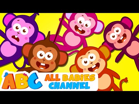 Five Little Monkeys Jumping On The Bed  Nursery Rhymes  Kids Songs  All Babies Channel