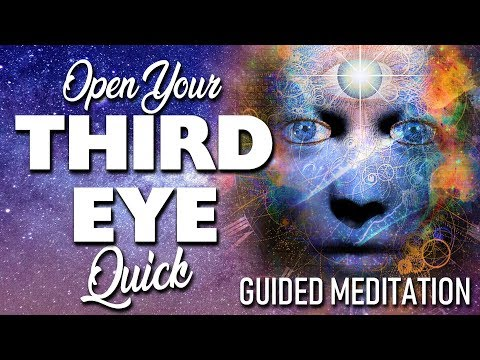 Open Your THIRD EYE Quick! Guided Meditation. Powerful Tapping & Visualization Techniques Used