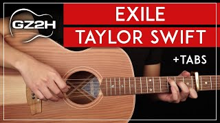 Exile Guitar Tutorial Taỳlor Swift Bon Iver Guitar Lesson |Easy Chords + TABs|