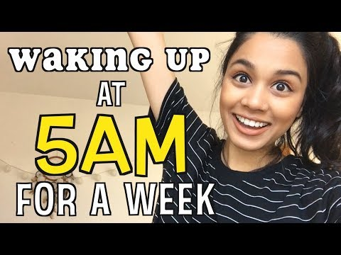Waking Up At 5AM For A Week | TAZ TRIES
