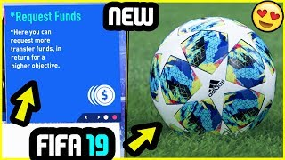 3 NEW FEATURES ADDED TO FIFA 19 CAREER MODE + NEW FACES (PC MODS)