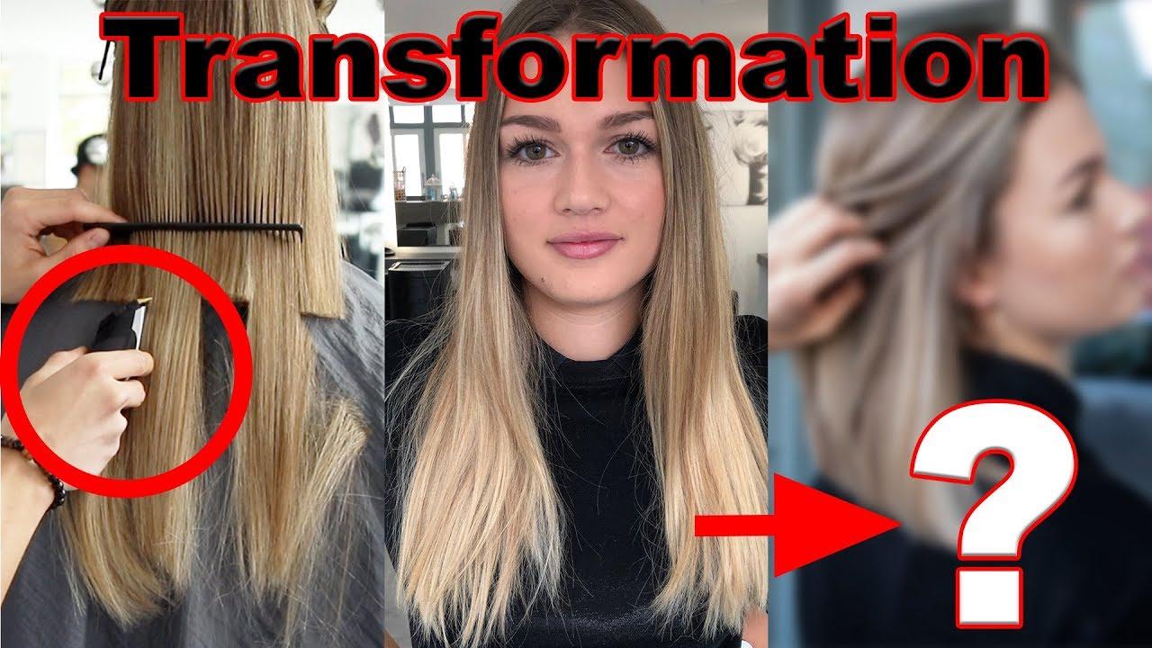Haare Ab Neue Balayage Technik Toupierte Foiyage Youtube
