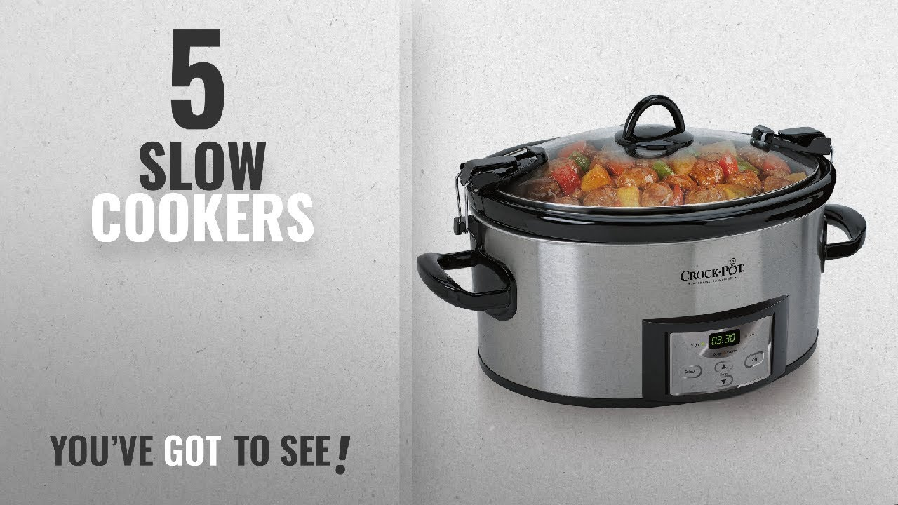 Top 10 Slow Cookers 2018 CrockPot 6Quart Programmable Cook