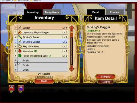 How To Hack Dragonfable (Damage Cheat, Level/Exp Cheat And Instant Kill Cheat)