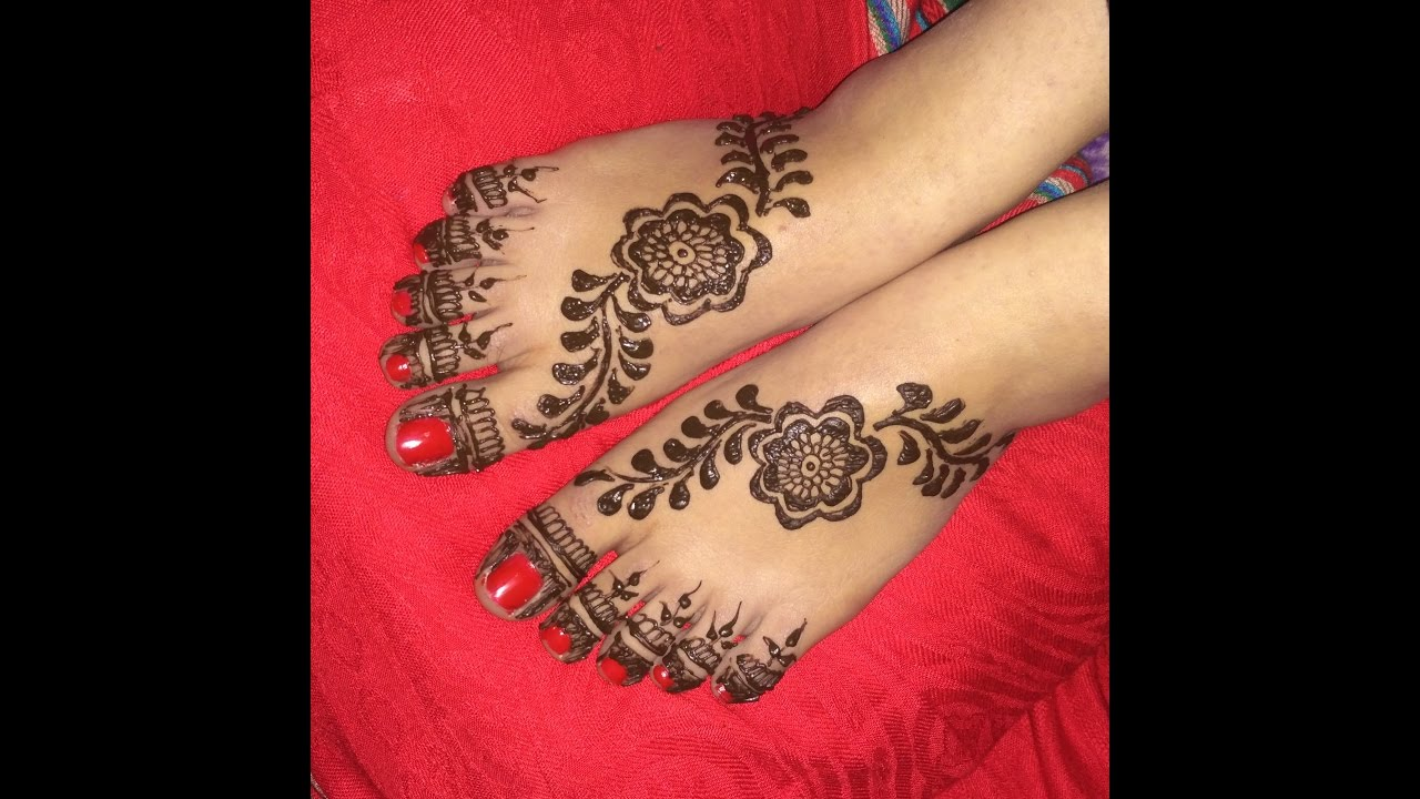 Elegant Arabic Heena Mehndi Designs For Foots|Legs 2017 - YouTube