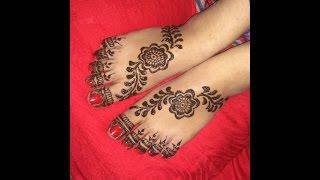 Elegant Arabic Heena Mehndi Designs For Foots|Legs 2017