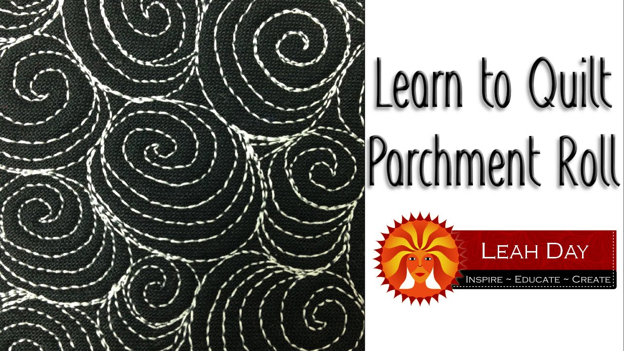 How to Machine Quilt Parchment Roll - #457 - YouTube : quilting videos online free - Adamdwight.com