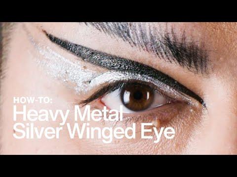 HOW TO: Heavy-Metal Silver Winged Eye | MAC Cosmetics