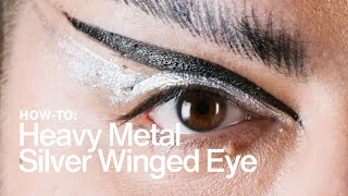 HOW TO: Heavy-Metal Silver Winged Eye | MAC Cosmetics