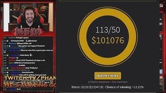 BIGGEST CS GO JACKPOT EVER ► $100 000 CSGOSHUFFLE POT ► WITH PHANTOML0RD