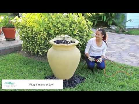 Urn Container Fountain Project