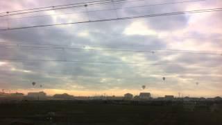 たんこぶちんサンプル楽曲にのせて 佐賀の車窓から見える気球をお楽しみ...