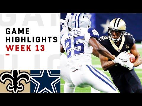 download Saints vs. Cowboys Week 13 Highlights | NFL 2018