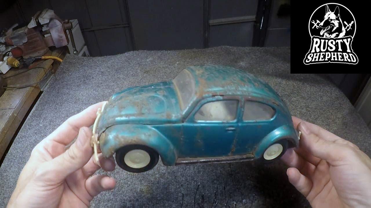 Vintage Tonka VW Beetle restoration. Chrome/Transparent Purple!