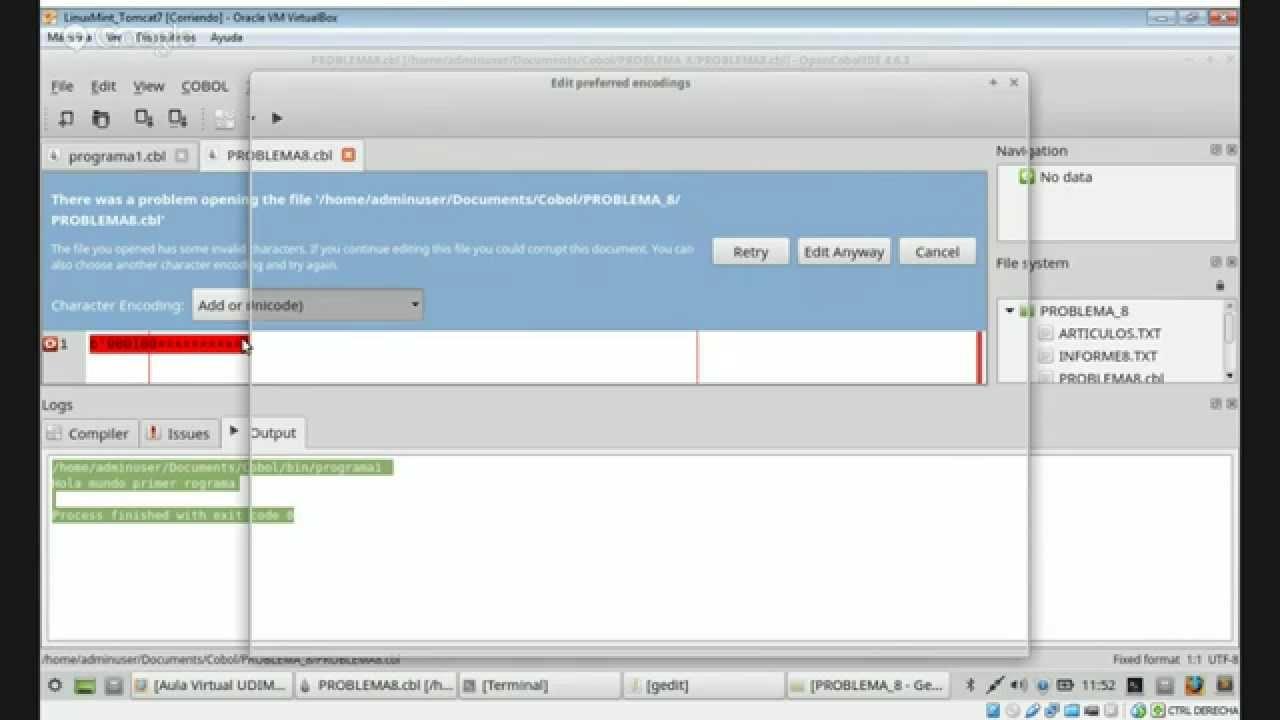 Trabajar con OpenCobol IDE