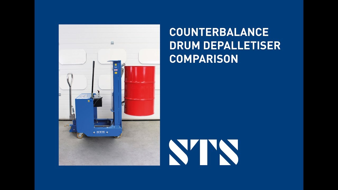 Counterbalance Drum Lifter - Safe Working Load Comparison (Model: DTP08-250kg vs DTP08-350kg)