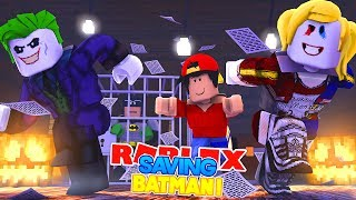 ROBLOX Adventure - SAVING BATMAN FROM THE JOKER & HARLEY QUINN!!