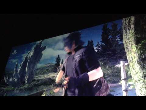 Monster of the Deep Final Fantasy 15 E3 Sony press conference movie theaters crowd reaction 2017