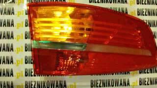 Żarówka LED zielona + Lampa  z USA = pomarańczowy kierunkowskaz przez czerwony klosz