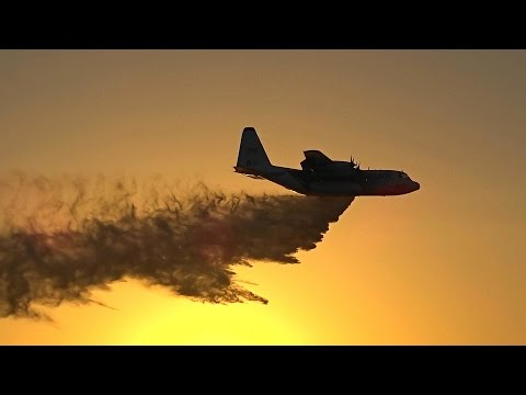 Coulson FC-130Q Hercules Firefighter Airtanker Display at Avalon Airshow 2017 Melbourne Australia.