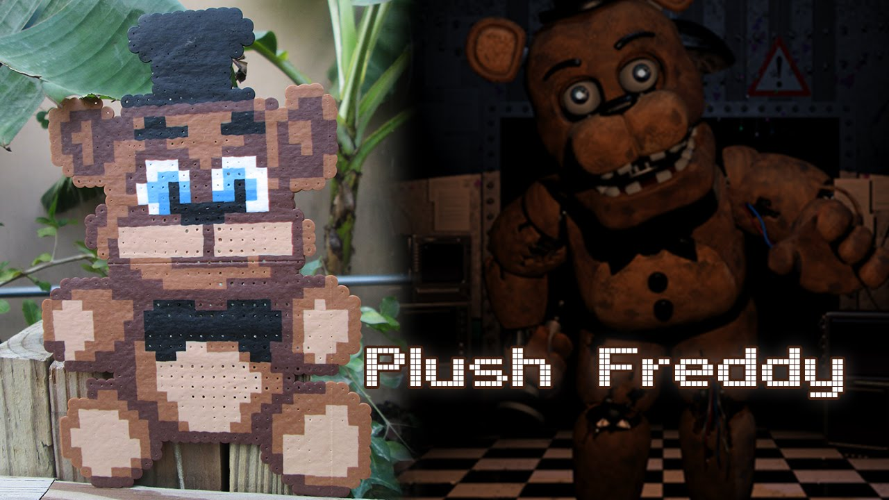How to make your own five nights at freddys foxy plush - Plush Freddy From Fnaf Timelapse Perler Hama Arktal Beads Youtube