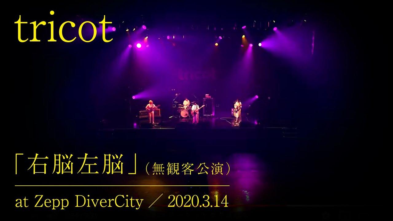 tricot「右脳左脳」(無観客公演)at Zepp DiverCity/2020.3.14