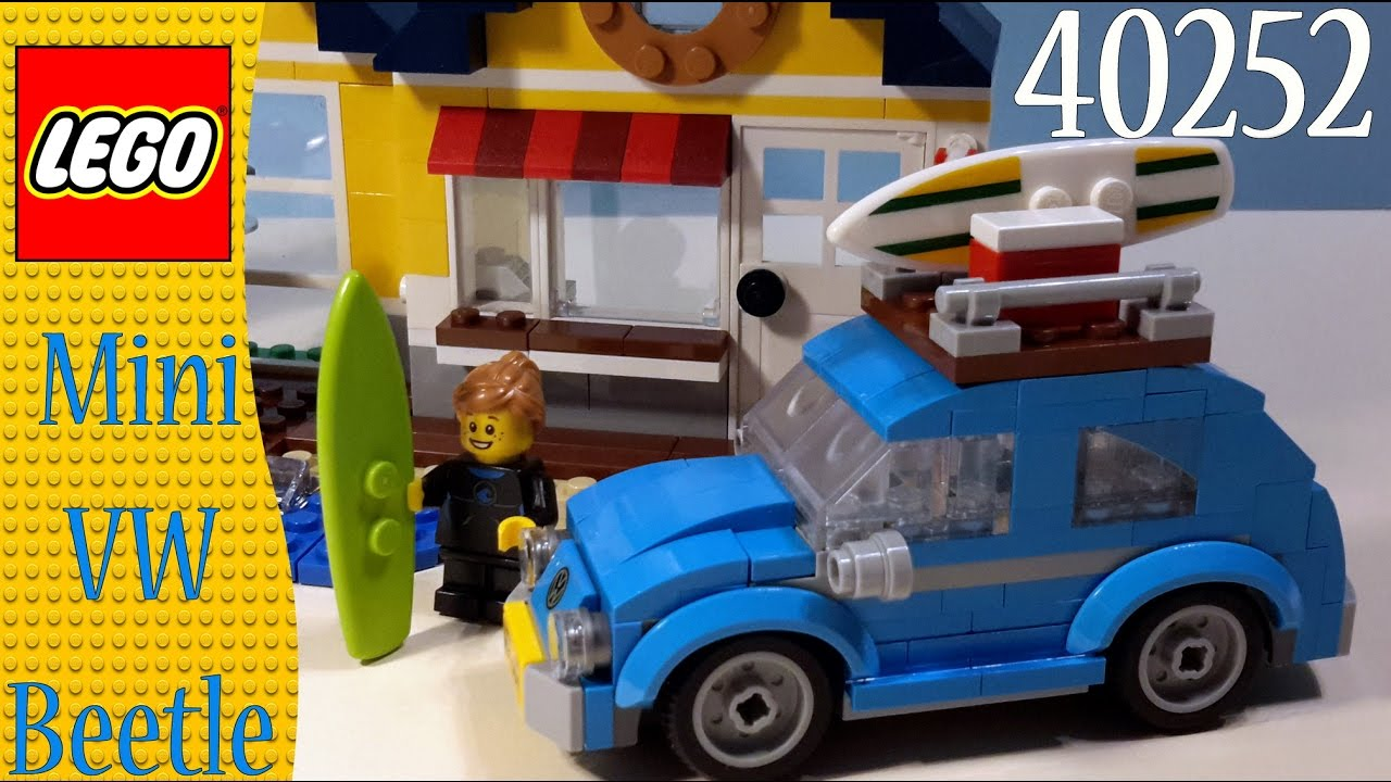 lego creator 40252 mini vw beetle quick build youtube. Black Bedroom Furniture Sets. Home Design Ideas
