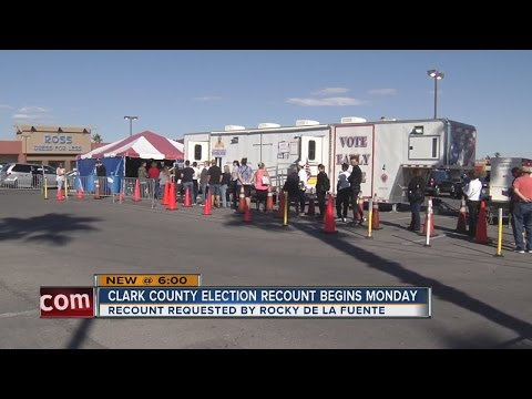 Clark County to begin recounting ballots Monday