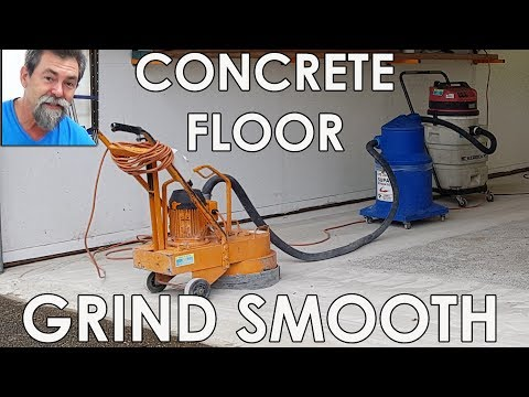 Concrete Grinder Brings Garage Slab Back To Life! Dave Stanton easy woodworking tips and tricks