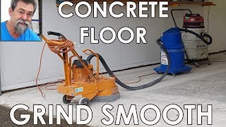 Concrete grinder brings garage slab back to life! Dave Stanton easy woodworking tips and tricks