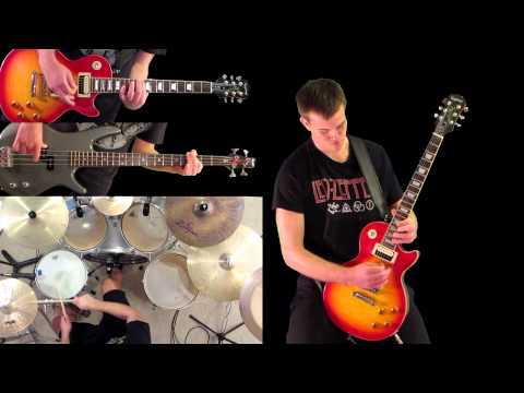 Crushing Day Joe Satriani Guitar Bass and Drum Cover