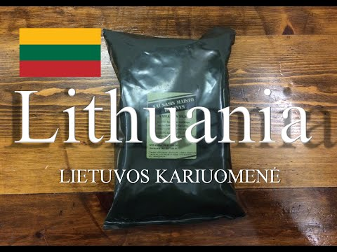 Lithuania Dry Ration Nr. 10 Beef Stew & Vegetables ~2015~