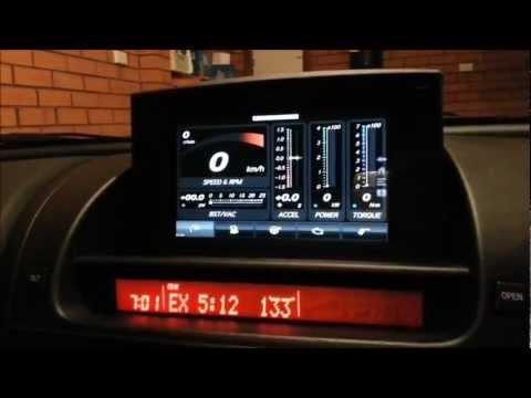 [Update: 1] Huawei MediaPad Android Tablet In Mazda RX-8 Nav Hood