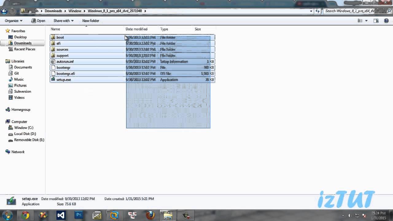 Hướng dẫn cách tạo USB cài Windows 8.1 từ A-Z