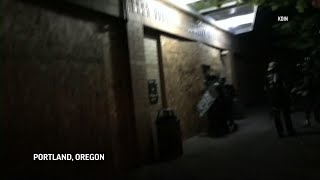 Portland police declare a riot during protests