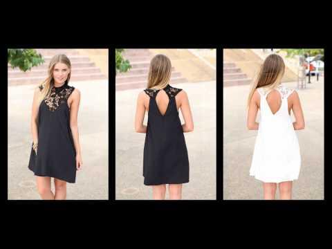 Кружевном платье, топы белый черные платья