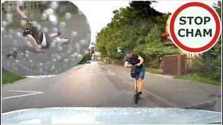 Pijany na hulajnodze wjeżdża pod samochód - wypadek #658 Wasze Filmy
