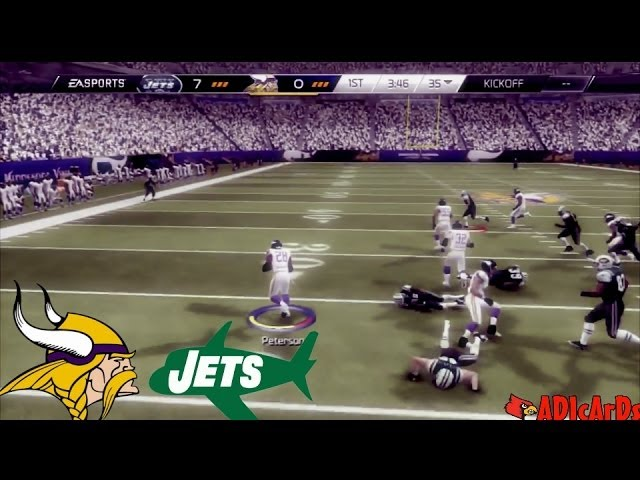 Madden 25 | Adrian Peterson: TOO FAST & TOO STRONG | Vikings vs. Jets  | Madden 25 Online Gameplay