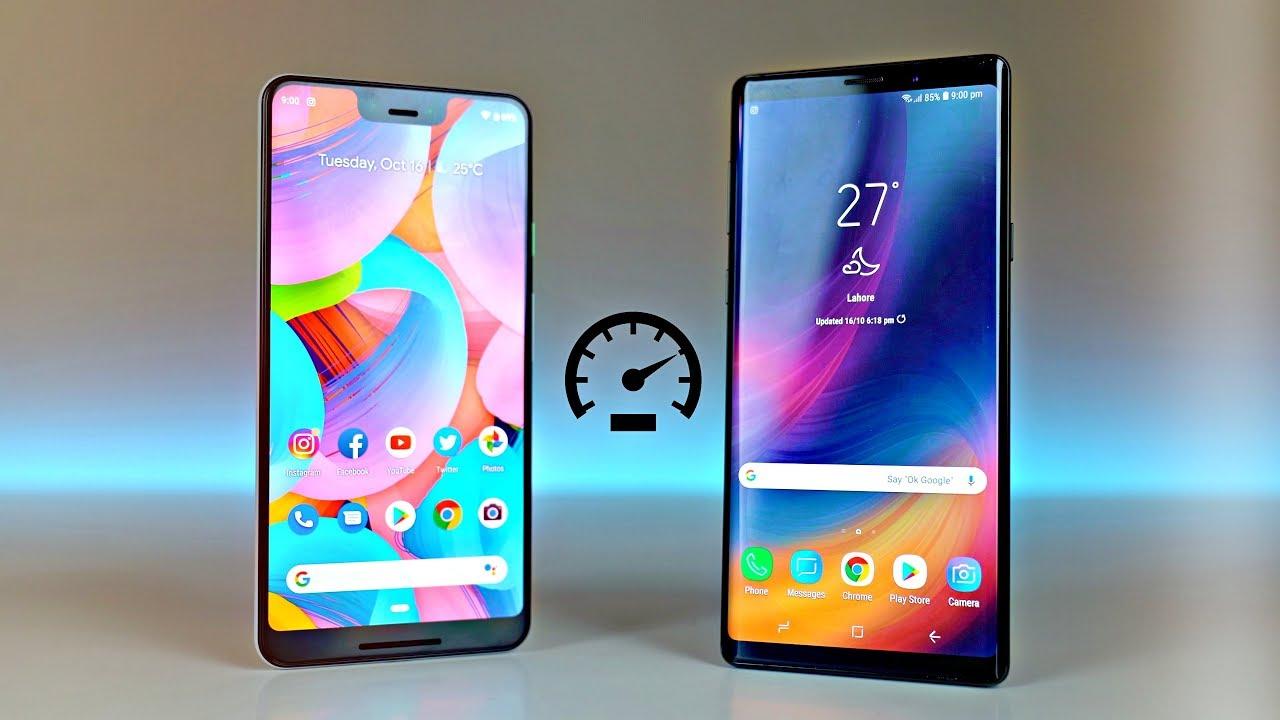 Pixel 3 XL vs Samsung Galaxy Note 9 - Speed Test! Is 4GB RAM Enough?
