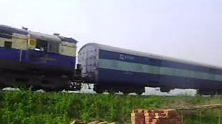 Malda WDM3A 16519R leading Guwahati - Lumding Passenger