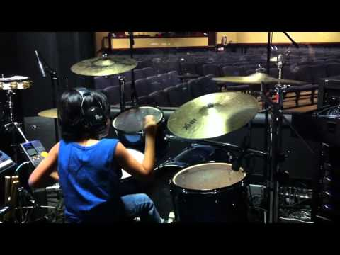 Hillsong - GO (Drum Cover) by 6 year old Marcelo Garcia