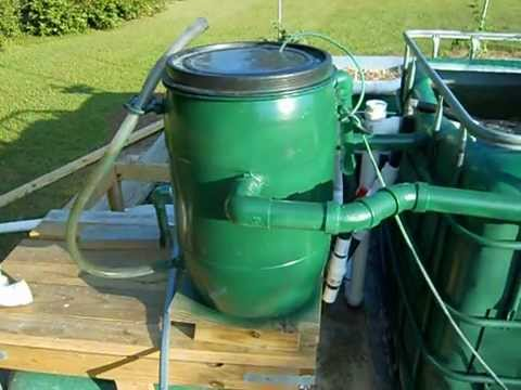Aquaponics bio filter 1 0 youtube for Aquaponics filter