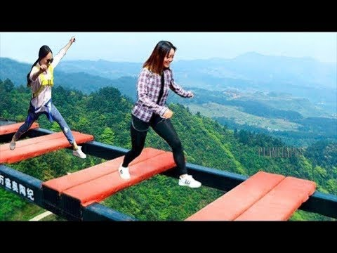 Scary Glass Bridge In China   Try Not To Laugh   Comedy Video   Part 3